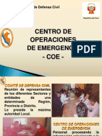 Centro de Operacion y Emergencia COE.
