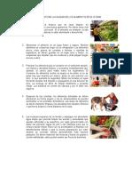 10 Normas Para Garantizar La Calidad de Los Alimentos en El Hogar