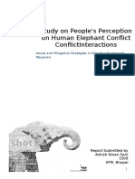 Study on People's Perception of Human-Elephant Conflict
