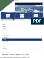 Informe Sísmico Especial N 17 - 2016 - Instituto Geofísico - EPN
