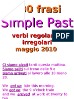 Simple Past Frasi Da Tradurre 2010