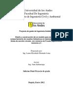 Diseño y Construcción de Un Modelo Para Estudiar El Comportamiento de Resaltos Hidráulicos