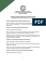 Programa de Derecho Internacional Público ucv