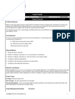 Sample Project Charter HCAHPS