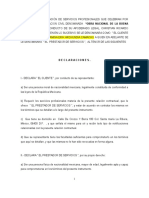 Contrato de prestación de servicios  honorarios Machote