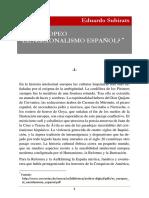 Es Europeo El Nacionalismo Espanol