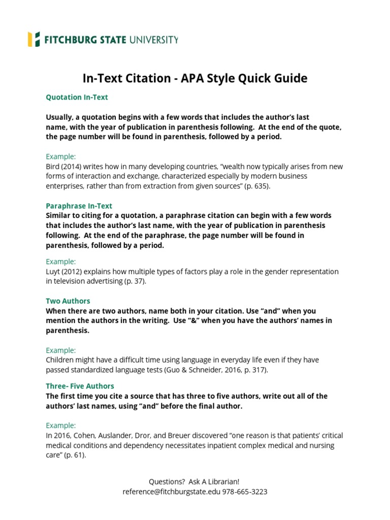 apa format in text citations Apa style reference citations which ut students can access in book format or online examples of reference citations in text--apa style.