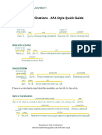 reference citation quick guide apa style