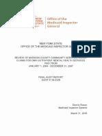 Madison County Medicaid Audit