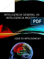 Inteligencia General vs Inteligencia Múltiple