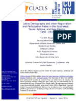Latino Demography and Voter Registration and Participation Rates in the Southwest