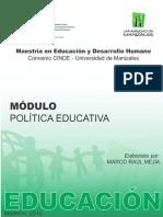 Poltica Educativa - Marco Raúl Mejía Marzo 2016