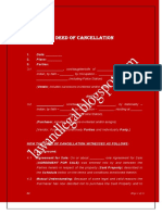 Deed of Cancellation of Agreement