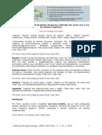 Modelo ARTIGO - Trabalhos Técnico-científicos - Agroecol 2016