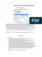 Reseña Sobre La Herramienta Google Docs