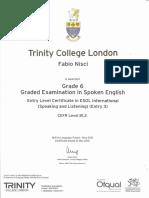 Trinity Grade6 Cert
