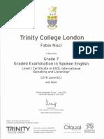 Trinity Grade7 Cert