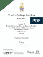 Trinity Grado9 Cert