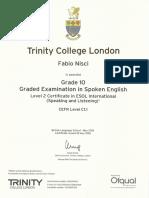 Trinity Grado10 Cert