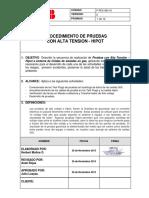 PROCEDIMIENTO DE TRABAJO - Pruebas de Alta Tensión HIPOT.pdf
