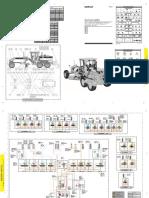 Plano Hidraulico Motoniveladora 12h-140h Cat