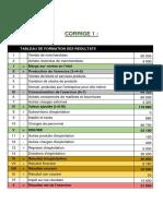 Corrigé.Ex 1 - Diagnostic Financier - Chapitre 1
