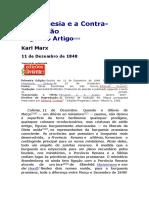 A Burguesia e a Contra Revolução - Karl Marx