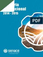 SENACE Memoria Anual 2014 2015
