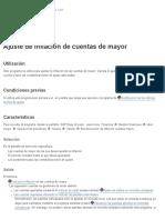 Biblioteca SAP - Ajuste Por Inflación de Cuenta Mayor
