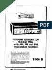 Adret Generateur 7100b 2 Version Anglaise