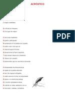 Acrostico de Miguel de Cervantes Saavedra