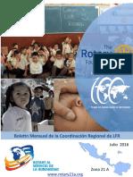 Boletín Julio 2016 - Coordinación Regional de La Fundación Rotaria Zona 21A
