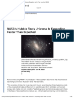 Hubble Finds Universe Expanding Faster Than Expected _ NASA1