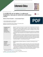 La Modificación de Los Habitos y La Adherencia Terapeutica en Enfermedad Cronica