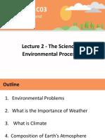 ENVIR SC 02 The Science of Environmental Processes