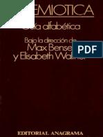 Bense, Max & Walther, Elisabeth - La Semiotica. Guia Alfabetica