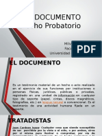El Documento - Probatorio