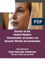 UN Report on Mohtarma Benazir Bhutto's Assassination