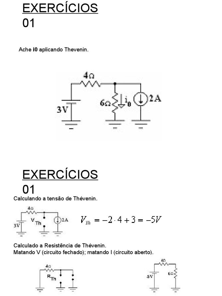 Circuito Aberto : 2ª lista de exercícios de elet0037 2014 2