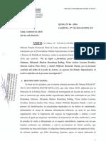 Fallo de Frank Almanza ampliando investigación a Rosenberg