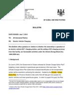 OEB Bulletin EV Charging