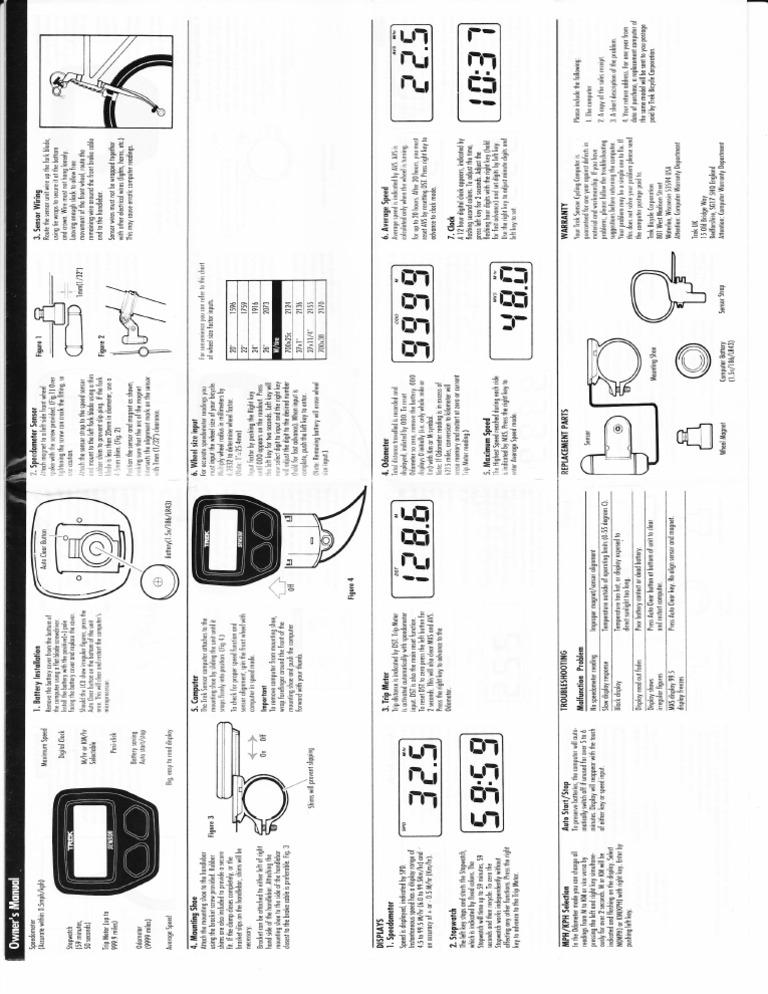 bike computer manual