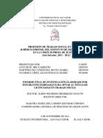 Profesión de Trabajo Social en El Área Juridico-Forense