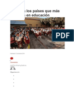 Conozca Los Países Que Más Invierten en Educación