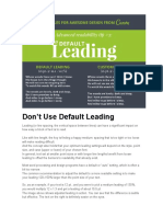 Dont Use Default Leading