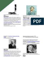 10biografias de Pintores
