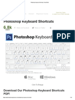 Photoshop Keyboard Shortcuts Cheat Sheet