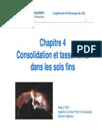 ITC Chapitre 4 - Consolidation Des Sols Fins
