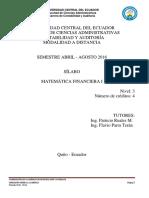 Syllabus Matemática Financiera I CA