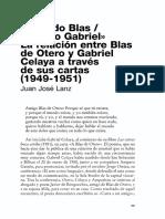 La Relación Entre Blas de Otero y Gabriel Celaya A Través de Sus Cartas (1949-1951)